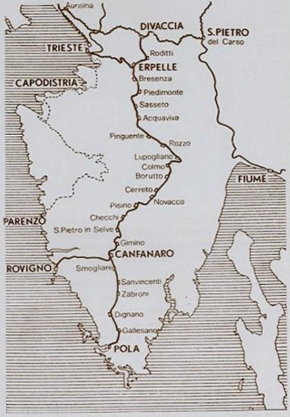 Risultati immagini per Ferrovia Rovigno-Canfanaro