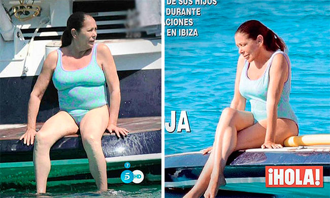 Isabel Pantoja Revista ¡Hola! Before and After