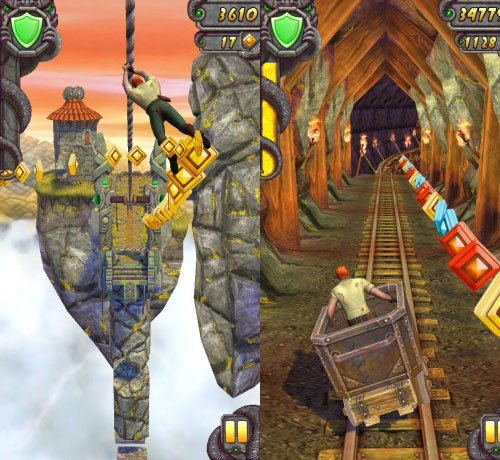 Temple Run 2 zip lines, mines and forests