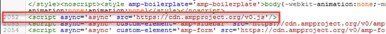 Tambahkan AMP Javascript Library