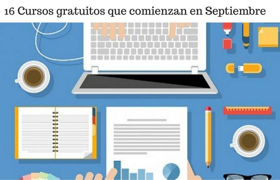 Cursos, Septiembre, Gratis, Aprendizaje