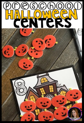Halloween and October morning Tubs, Centers and Activities for Preschool