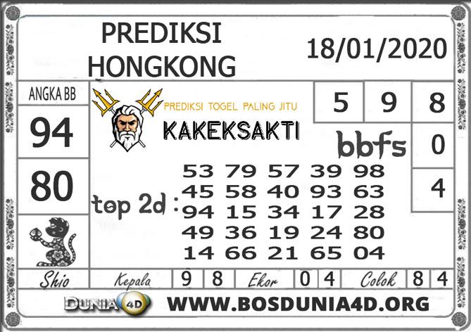 Prediksi Togel HONGKONG DUNIA4D 18 JANUARI 2020