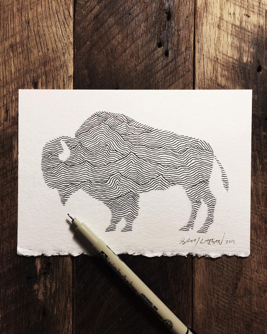 04-Buffalo-Lines-Sam-Larson-Injection-of-Inspiration-in-Diverse-Drawings-www-designstack-co