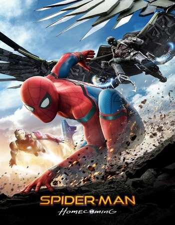 Poster Of Free Download Spider-Man - Homecoming 2017 300MB Full Movie Hindi Dubbed 720P Bluray HD HEVC Small Size Pc Movie Only At worldfree4u.com