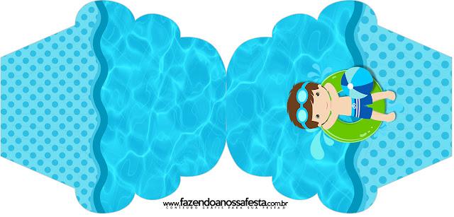 Boy in Pool: Free Printables invitations.