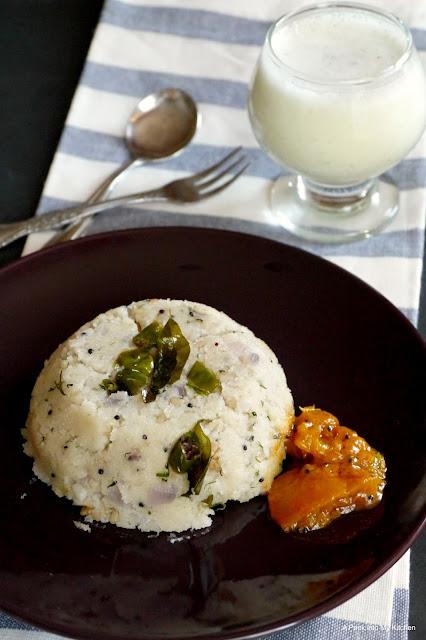 Simple Rava (Sooji) Upma / Semolina Porridge ~ Day 145