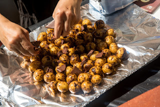 grilled potatoes with coffee, fingerlings with coffee, fingerling recipes, coffee potatoe recipes