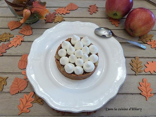 Tartelettes aux pommes, spéculoos et mousse de mascarpone vanillée