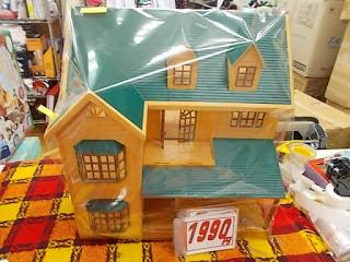 中古品のシルバニアの緑の家1990円