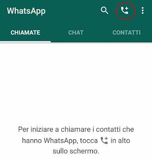 Come fare una chiamata whatsapp