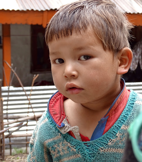 Cute Child Nakthan Village