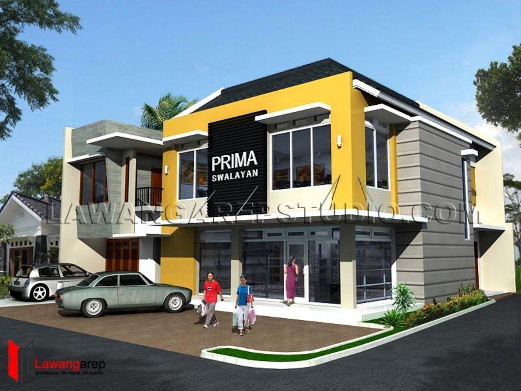 rancangan rumah toko modern populer