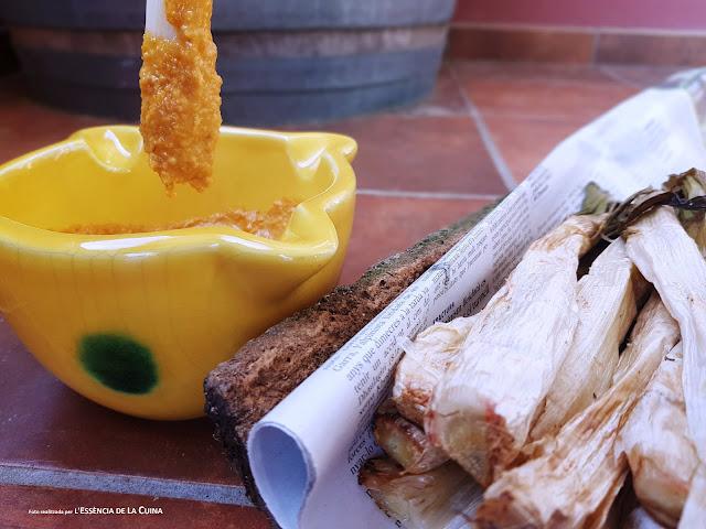 Calçots al Forn, Salsa Romesco, Cuina Vegana, Cuina tradicional, l'essencia de la cuina, blog-de-cuina-de-la-sonia