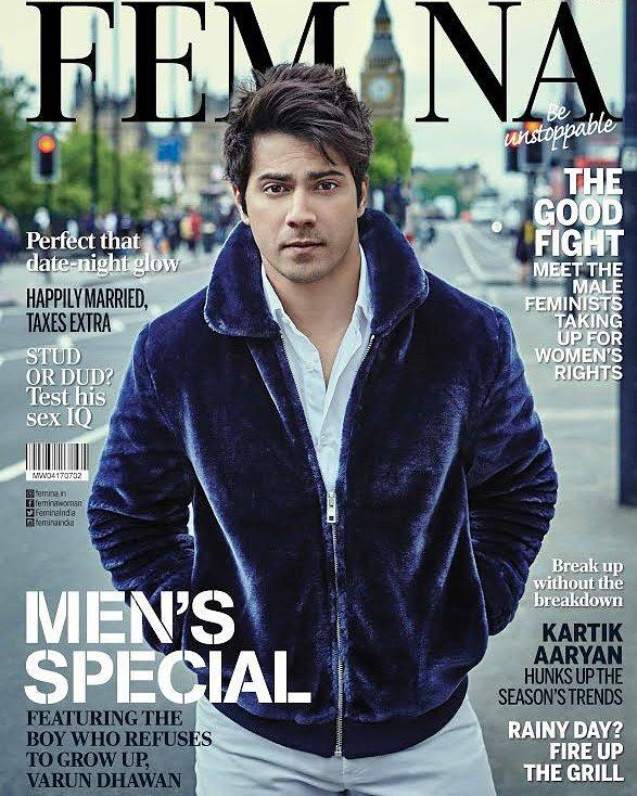 Varun Dhawan Features On The Cover of Femina Magazine June 2017
