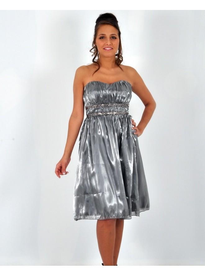 robe la mode robe de soiree grise argentee. Black Bedroom Furniture Sets. Home Design Ideas