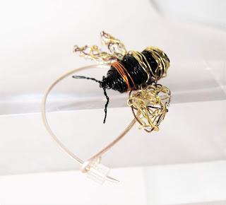 Wire bee jewelry, contemporary jewelry