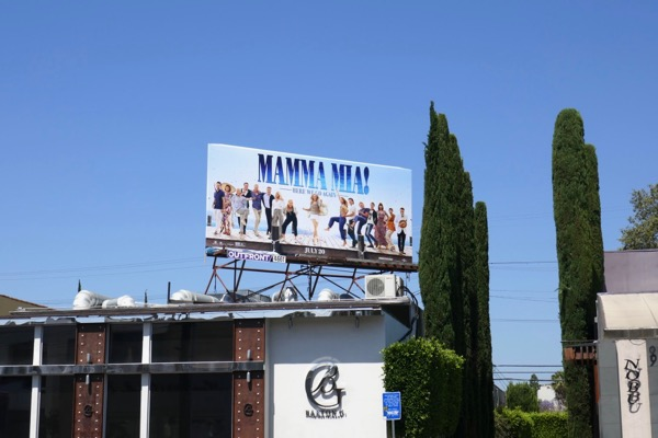 Mamma Mia Here We Go Again billboard