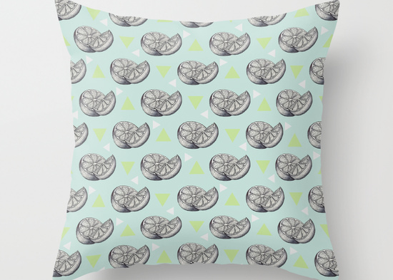 Art Life's lemons Illustration cushion cover