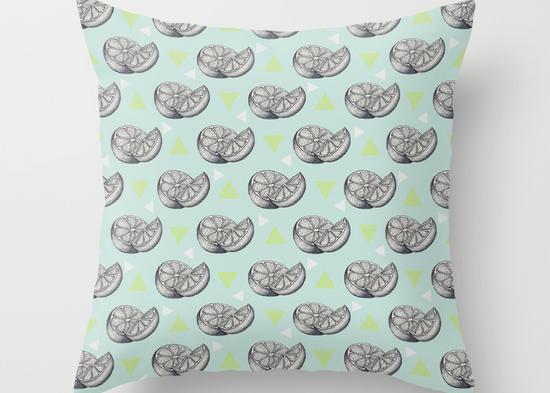 Art Life's lemons Illustration cushion cover