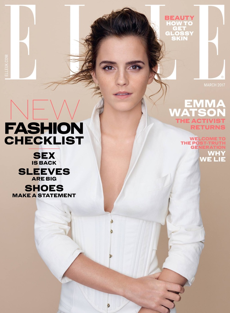 Emma Watson goes chic for Elle UK March 2017