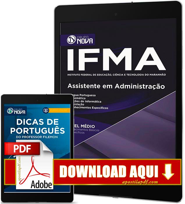 Apostila IFMA 2016 PDF Download Assistente em Administração
