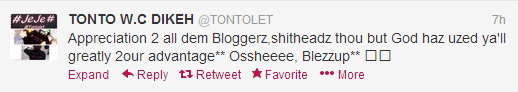 Untitled Did Tonto Dikeh call bloggers Shitheads?