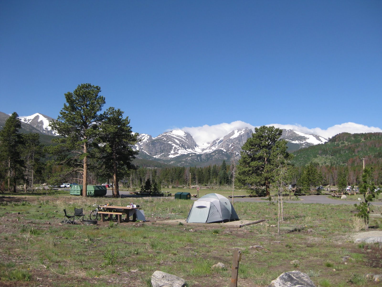 Campgroundcrazy glacier basin campground rocky mountain for Rocky mountain state park cabins
