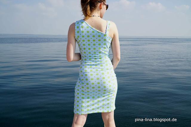 Asymmetrisches Jerseykleid aus der Burda 5/14