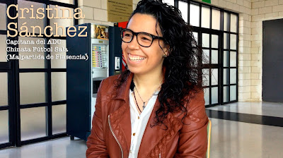 Cristina Sánchez Recio. Futbolista, capitana del ADC Chinata Fútbol Sala