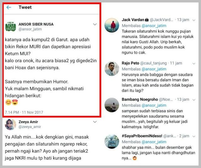 Netizen Rame Rame Semprot Akun Ansor Siber Nusa