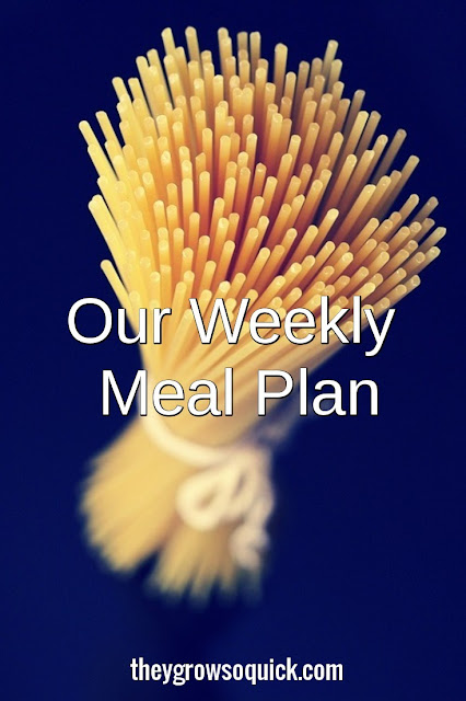 Our weekly meal plan 7/11