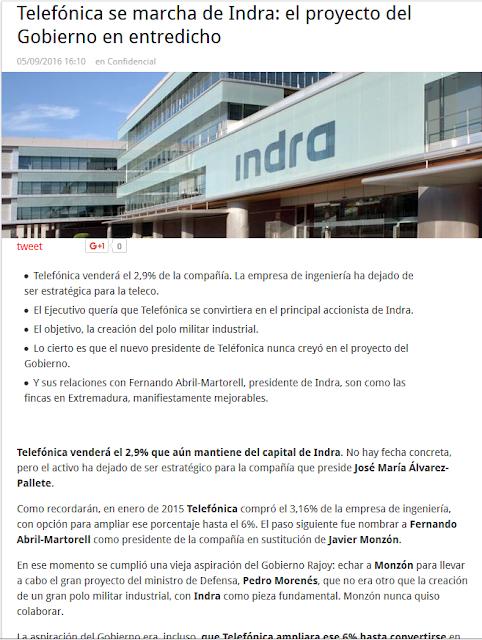 http://www.hispanidad.com/telefonica-se-marcha-de-indra-el-proyecto-del-gobierno-en-entredicho.html