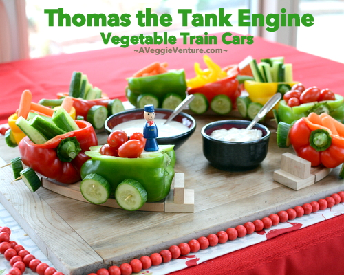 Thomas the Tank Engine Vegetable Trains ♥ A Veggie Venture