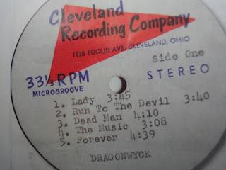 """Dragonwyck """"Dragonwyck II"""" Cleveland Recording Company 1971  mega rare private acetape"""