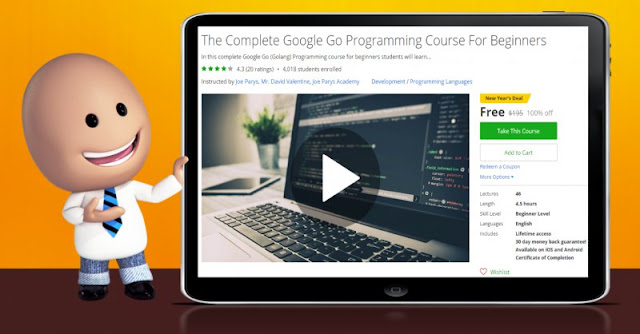[100% Off] The Complete Google Go Programming Course For Beginners| Worth 195$