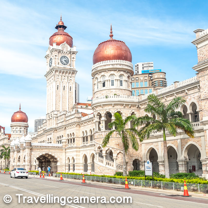 Sultan Abdul Samad Building is located in the middle of the city and has beautiful places to walk around. Just behind this building there is a beautiful water body surrounded by well paved path which connect with Metro station on other side. We shall share detailed post about this place, KLCC square, the high flag in front of Sultan Abdul Samad Building and some of the other places worth exploring.