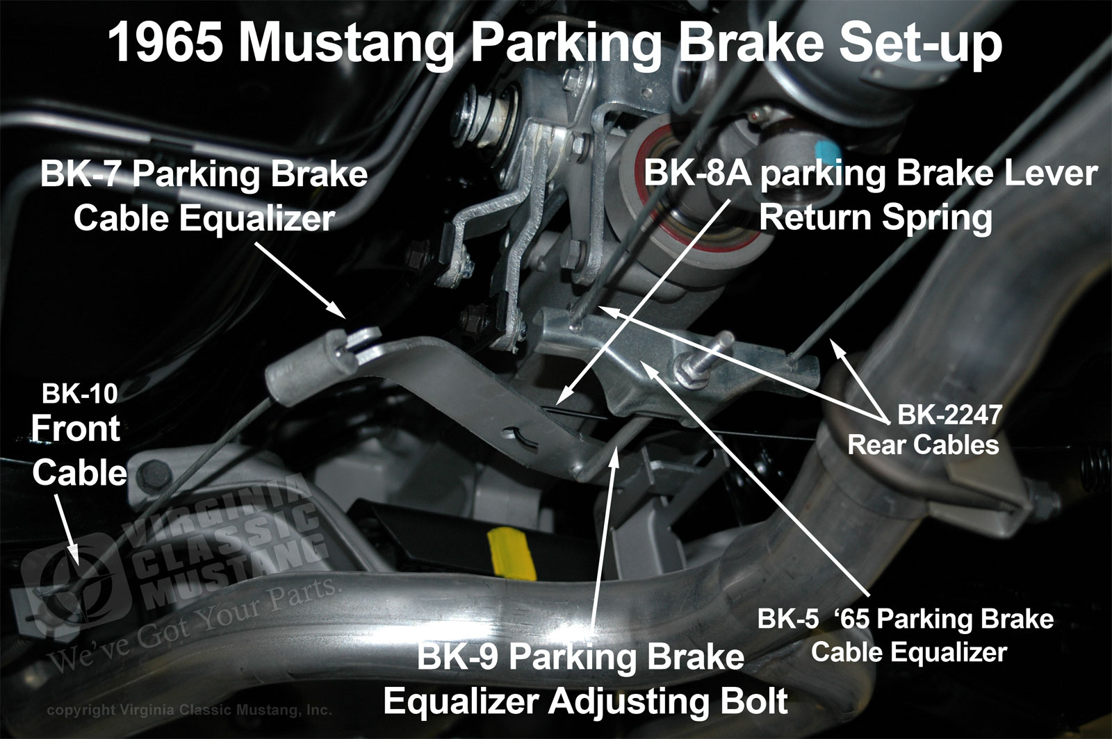small resolution of 1965 mustang parking brake set up