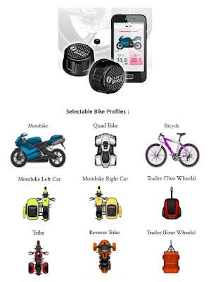 Cảm biến áp suất lốp xe Motor - Fobo Bike