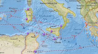 Διαδραστικός χάρτης με το 20ετές ταξίδι του Οδυσσέα