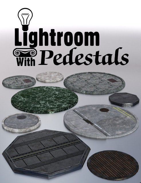 Lightroom with Pedestals