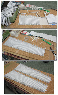 Making the Captain John Hart chest braid.