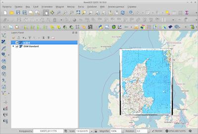 топографическая карта в QGIS на фоне openstreetmap, topomap in qgis