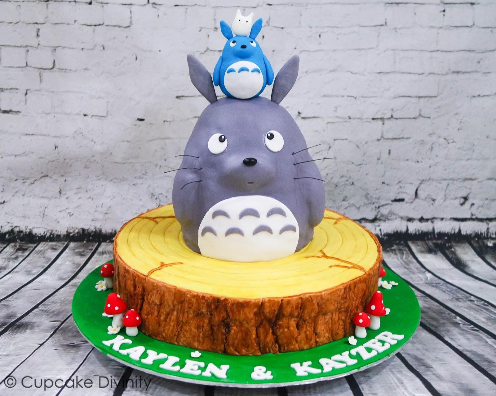 Astonishing Cupcake Divinity Totoro Cake Cupcakes Funny Birthday Cards Online Aeocydamsfinfo