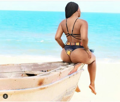 SA TV personality, Boity Thulo is not done steaming up Instagram in sexy bikini