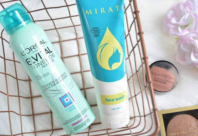 L'Oreal Elseve Extraordinary Clay Dry Shampoo & Mirati Face Wash