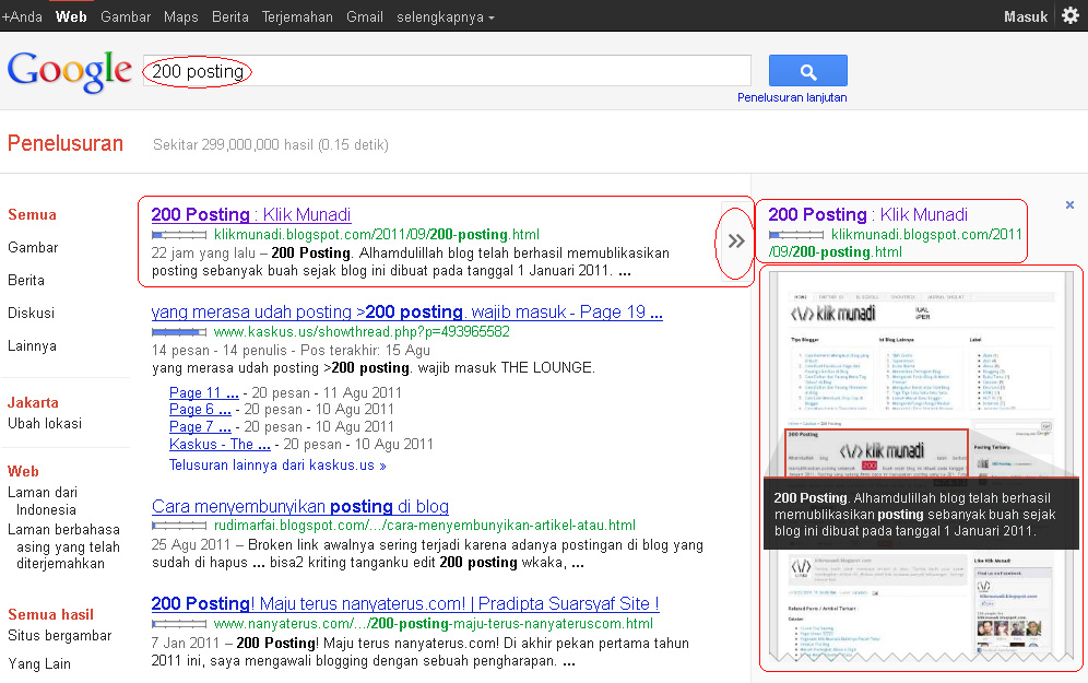 Instant Preview Baru di Google SERP