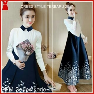 8SPM Model Dress Bunga Wanita Gaya Korea Bj5008