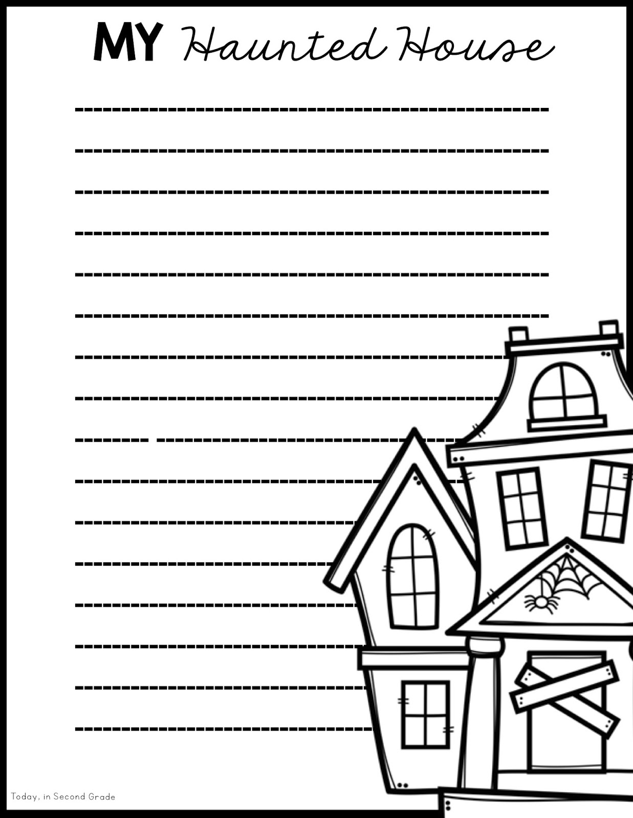 Unusual Haunted House Craft Template Ideas - Entry Level Resume ...