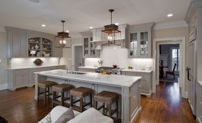 Light-Grey-Kitchen-Cabinets-Open-Kitchen